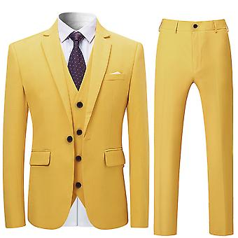 Allthemen Men's Suits 3-Pieces Suits Slim Four Seasons Suit Jacket&Pants&Vest 12 Colors