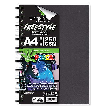 Artgecko Freestyle Bleedproof Marker Paper Sketchbook A4