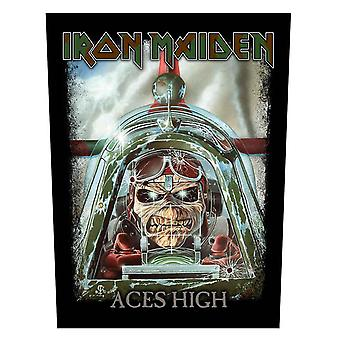 Iron Maiden Backpatch Aces High Eddie Band Logo new Official 36cm x 29cm