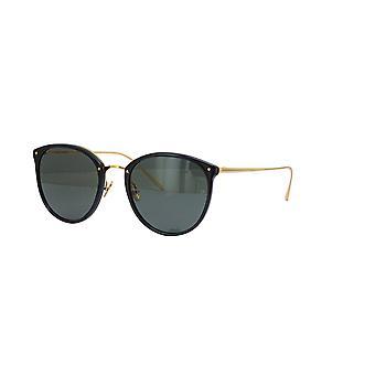 Linda Farrow CALTHORPE LFL251 SUN C13 Black Yellow Gold Sunglasses