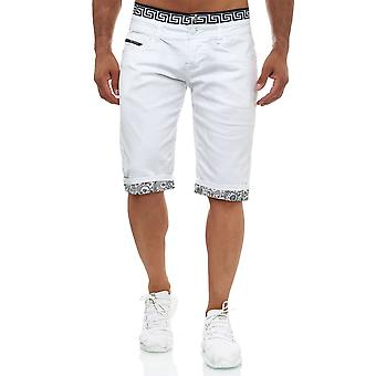 Jaylvis Mens Jeans Shorts Short Stretch Summer Capri Pants Bermuda Used Design