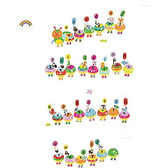 Fiesta Crafts Stickabouts Alphabet Caterpillar