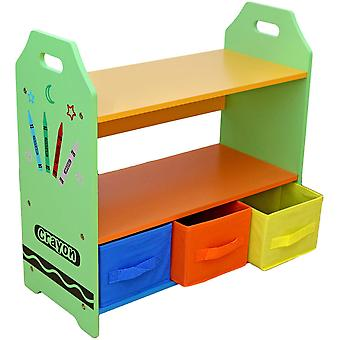 Kiddi Style Crayon Unité de stockage avec 3 boîtes