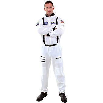 Vit astronaut tonåring kostym
