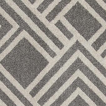 5'x8' harmaa kone kudottu UV käsitelty geometrinen sisäilma-alue matto