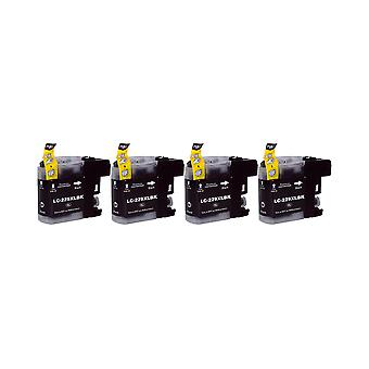 RudyTwos 4x Replacement for Brother LC-229XLBK Ink Unit Black (Extra High Yield) Compatible with MFC-J4425DW, MFC-J4625DW, DCP-J4120DW, MFC-J4620DW, MFC-J4420DW, MFC-J5625DW, MFC-J5600Series, MFC-J532