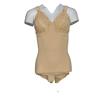 Cortland Intimates Shaper Comfort Lace Body Briefer Nude Beige