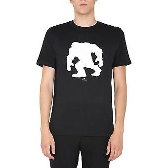 Ps Door Paul Smith M2r011rep214779 Men's Black Cotton T-shirt
