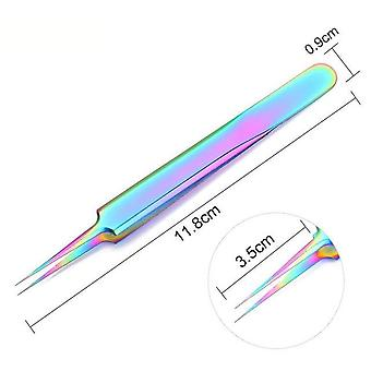 Heads Straight Nail Tweezers With Silicone Pressing Head For 3d Sticker - Water