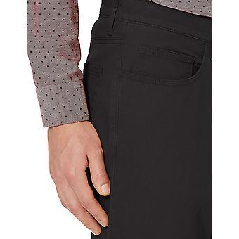 Goodthreads Miehet's Straight-Fit 5-Pocket Chino Pant, Musta, 32W x 32L