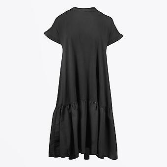 Humilité - Robe Midi Drop-Waist - Noir