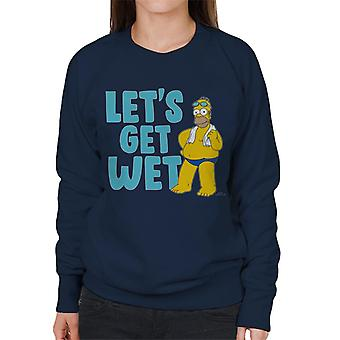 The Simpsons Lets Get Wet sudadera de mujer