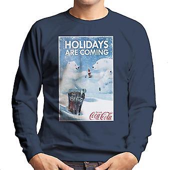 Coca Cola vakantie zijn coming ijsbeer Cheers mannen ' s Sweatshirt