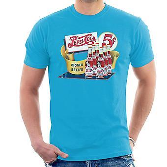 Pepsi Cola Bigger Better Bottles Men's T-Shirt