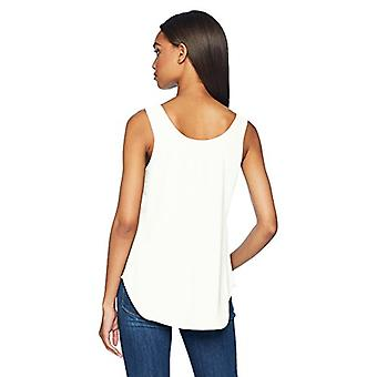 Brand - Daily Ritual Women's Shirt-Tail Scoop-Neck Sleeveless Shell, o...