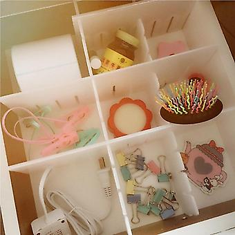DIY Grid Drawer Separator and Divider - Household Necessities For Underwear Socks - Clapboard Partition Storage and Organizer