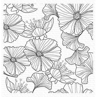 Mijn favoriete dingen losjes gevoerde bloemen achtergrond stempel