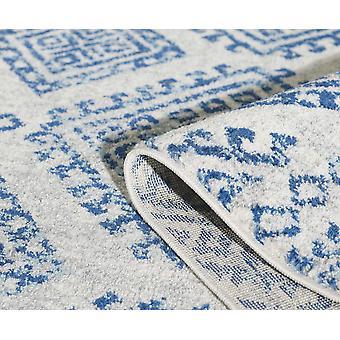 "63"" X 87&quot שנהב או כחול פוליפרופילן שטיח"