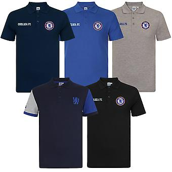 Chelsea FC Mens Polo Shirt Crest OFFICIAL Football Gift