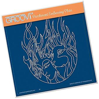Groovi Fire Element A5 Square Plate