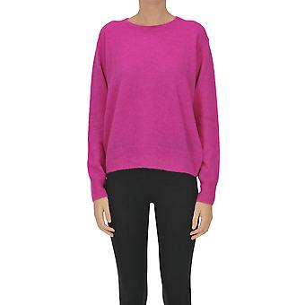 Dries Van Noten Ezgl093180 Dames's Fuchsia Wollen Trui