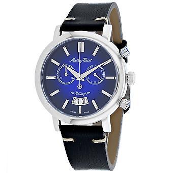 495, Mathey Tissot hombres 'S H42Chan cuarzo reloj negro