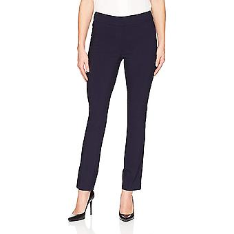 Brand - Lærke & Ro Kvinder's Slim Leg Stretch Pant: Comfort Fit, Navy, 0