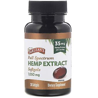 Barlean's, Full Spectrum Hemp Extract, 35 mg, 30 Softgels
