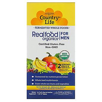 Country Life, Realfood Organics, Men's Daily Nutrition, 120 Facile à avaler Tabl