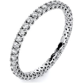 Anello di diamante - 18K 750/- oro bianco - 0.51 ct. Taglia 53