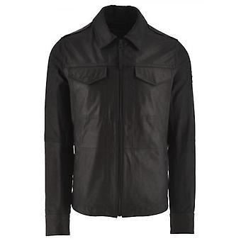 BOSS Black Jobean Leather Jacket