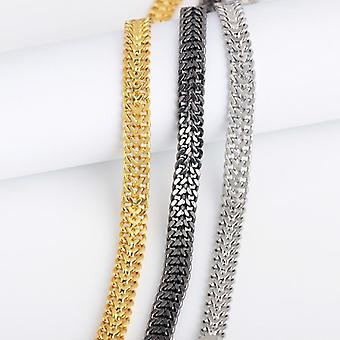 Bracelet de luxe unique en argent, or et punk noir