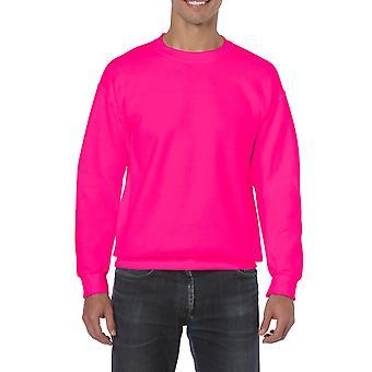 GILDAN G18000 Heavy Blend Sweatshirt in Safety Pink