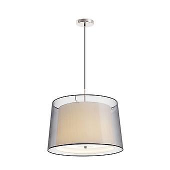 Faro Saba - 3 lys tak anheng sateng nikkel med dobbel skygge, E27