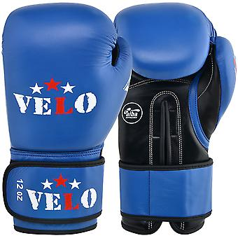 VELO AIBA Boxing Gloves Approved Blue