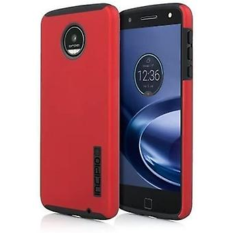 Incipio DualPro funda para Motorola Moto Z fuerza droide - iridiscente rojo / negro