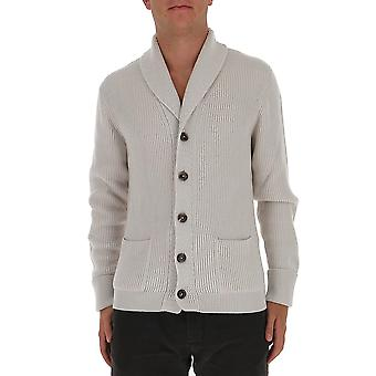 Tom Ford Bvk82tfk154k00 Men's White Cashmere Cardigan