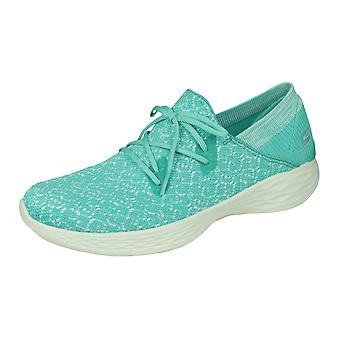 Skechers You Exhale Womens Comfortable Trainers Walk Shoes - Mint