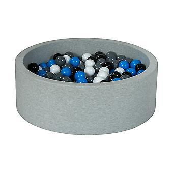 Boks kulowy 90 cm z 300 kulkami czarnymi, białymi, niebieskimi i szarymi