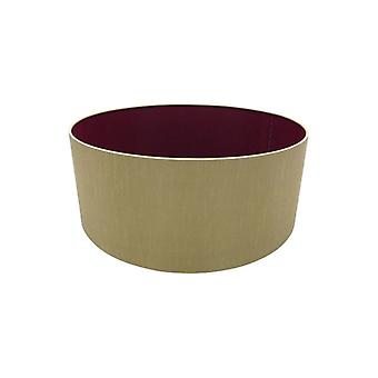 50 Cm Cylinder Fabric Lampshade Antique Gold/ruby