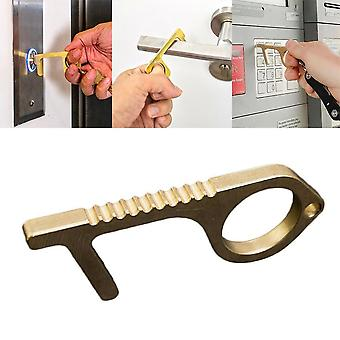 Portable Press Elevator Tool Hygiene Hand Antimicrobial Alloy Edc Door Opener Door Handle Key Metal - Portable Door Opener