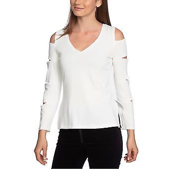 1.State | V-ringad slit-sleeve tröja