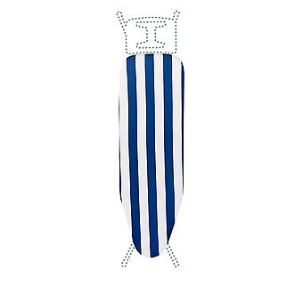 Granit Replacement Ironing Board Cover | Laminated Thick Felt | Adjustable Size Fits up to 113 x 34cm | Blue Stripe