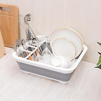 Kitchen Foldable Dish Rack Storage Holder Drainer Bowl Tableware Plate Cup Drying Rack For Home