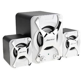Přenosné kombinované reproduktory -3D Stereo Subwoofer Pc Reproduktor Bass Music Dj USB počítačové reproduktory pro notebook telefon tv