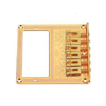 Humbucker Bridge 6 Cuerdas Metal Gold Roller Saddle para Guitarra