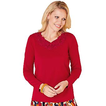 Chums Lace and Bead Trim Jumper