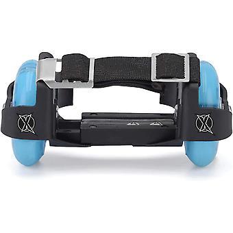 Xootz Heel Wheel Roller Skates - Attachable Shoe Wheels Black/Blue