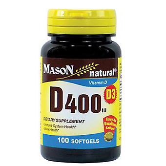 Mason Vitamin D400, 100 Softgels