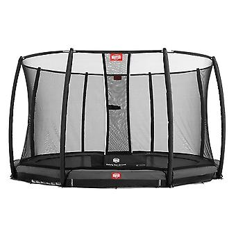 BERG InGround Champion 330 11ft Trampoline+ Safety Net Deluxe Grey
